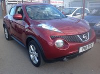 USED 2011 11 NISSAN JUKE 1.6 ACENTA 5d 117 BHP 44000 miles, sat/nav, alloys, air/con, superb.