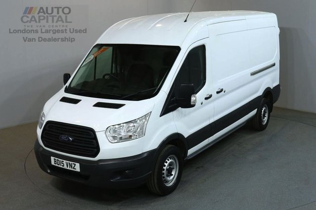 2015 15 FORD TRANSIT 2.2 350 SHR P/V 5d 124 BHP LWB L3 H2 M/ROOF RWD PANEL VAN ONE OWNER FROM NEW / MUST SEE