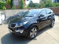 USED 2011 11 KIA SPORTAGE 1.7 CRDI 3 5d 114 BHP This Sportage 3 has been serviced by KIA @ 9331/17360/32635/46377 miles and then independently @52243 mile. It is finished in Black Metallic with Black heated leather seats. It is fitted with power steering, climate control, panoramic sunroof, Bluetooth phone, xenon lights, led day lights, rear park assist, auto lights, power folding mirrors, full size spare wheel, start stop technology, headlight washers, remote locking, electric windows, alloy wheels, USB AUX CD Stereo and more.