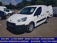 2013 PEUGEOT PARTNER 850S L1 90BHP WITH FULL SERVICE HISTORY £4295.00