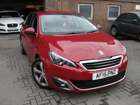 USED 2015 15 PEUGEOT 308 1.2 PURETECH S/S ALLURE 5d AUTO 130 BHP ANY PART EXCHANGE WELCOME, COUNTRY WIDE DELIVERY ARRANGED, HUGE SPEC
