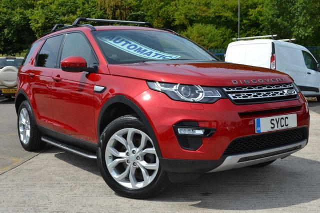 USED 2016 16 LAND ROVER DISCOVERY SPORT 2.0 TD4 HSE 5d AUTO 180 BHP NAV ~ PAN ROOF FIRENZE RED ~ PAN ROOF ~ SAT NAV ~ KEYLESS GO