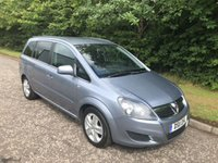 USED 2011 11 VAUXHALL ZAFIRA 1.6 DESIGN 5d 7 SEATS 113 BHP 6 MONTHS PARTS+ LABOUR WARRANTY+AA COVER