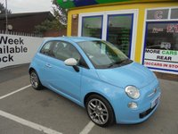 USED 2014 14 FIAT 500 1.2 COLOUR THERAPY 3d 69 BHP £0 DEPOSIT FINANCE DEALS AVAILABLE....£30 A YEAR ROAD TAX.....CALL TODAY ON 01543 877320