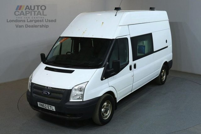 2012 62 FORD TRANSIT 2.2 350 124 BHP LWB 8 SEATER MESS WELFARE CREW VAN FITTED WORKING TOILET