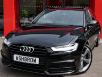 USED 2015 15 AUDI A6 AVANT 2.0 TDI ULTRA S LINE BLACK EDITION 5d 190 S/S UPGRADE HEATED FRONT SEATS, SAT NAV, FULL BLACK LEATHER, BOSE SOUND SYSTEM, DAB RADIO, BLUETOOTH PHONE & MUSIC STREAMING, AUDI MUSIC INTERFACE FOR IPOD / USB DEVICES (AMI), FRONT & REAR PARKING SENSORS WITH DISPLAY, LED HEADLIGHTS, ELECTRIC TAILGATE, 20 INCH ROTOR ALLOYS, TWIN EXHAUST, PRIVACY GLASS, BLACK ROOF RAILS, CRUISE CONTROL,  LIGHT & RAIN SENSORS, 1 OWNER FROM NEW, FULL AUDI SERVICE HISTORY