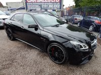 USED 2014 64 MERCEDES-BENZ E CLASS 5.5 E63 AMG 4d AUTO 550 BHP 704 BHP POWER UPGRADE, MANUFACTURERS EXTENDED WARRANTY, F.S.H