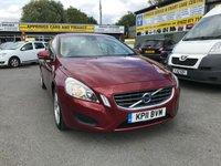 2011 VOLVO S60 2.0 D3 SE 4 DOOR  AUTO 161 BHP IN METALLIC RED WITH ONLY 79000 MILES £6499.00