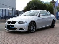 "USED 2009 BMW 3 SERIES 3.0 335D M SPORT HIGHLINE 2d AUTO  PROFESSIONAL SAT NAV ~ BLACK MEMORY LEATHER ~ £5K OPTIONS ~ BLUETOOTH ~ PDC VISUAL PARK ASSIST ~ 19"" ALLOYS"
