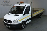 USED 2013 63 MERCEDES-BENZ SPRINTER 2.1 313 CDI LWB 129 BHP S/CAB DROPSIDE LORRY REAR BED LENGTH 14 FOOT