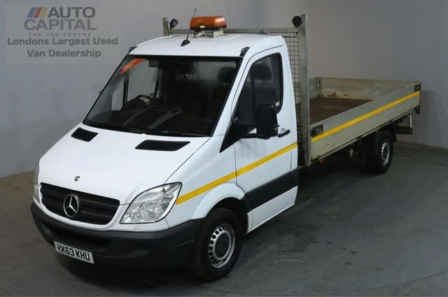 2013 63 MERCEDES-BENZ SPRINTER 2.1 313 CDI LWB 129 BHP S/CAB DROPSIDE LORRY REAR BED LENGTH 14 FOOT
