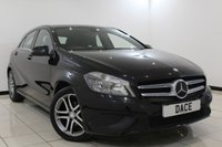 USED 2014 14 MERCEDES-BENZ A CLASS 1.5 A180 CDI BLUEEFFICIENCY SPORT 5DR AUTOMATIC 109 BHP HALF LEATHER SEATS + BLUETOOTH + CRUISE CONTROL + MULTI FUNCTION WHEEL + RADIO/CD + 17 INCH ALLOY WHEELS
