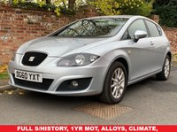 USED 2010 60 SEAT LEON 2.0 SE TDI DSG 5d AUTO 138 BHP 3 OWNERS, FULL SERVICE HISTORY, TIMING BELT REPLACED AT 49000 MILES IN 2017, 1YR MOT,  EXCELLENT CONDITION, ALLOYS, CLIMATE, CRUISE,  FOGS, RADIO CD, E/WINDOWS, R/LOCKING, FREE WARRANTY, FINANCE AVAILABLE, HPI CLEAR, PART EXCHANGE WELCOME,