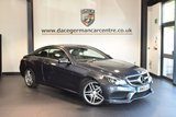 USED 2016 65 MERCEDES-BENZ E CLASS 2.1 E220 BLUETEC AMG LINE 2DR AUTO 174 BHP + FULL BLACK LEATHER INTERIOR + FULL SERVICE HISTORY + 1 OWNER FROM NEW + SATELLITE NAVIGATION + BLUETOOTH + HEATED SPORT SEATS + CRUISE CONTROL + ACTIVE PARK ASSIST + 18 INCH ALLOY WHEELS +