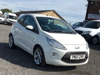 USED 2013 13 FORD KA 1.2 ZETEC 3d  A, ONLY £30 ROAD TAX, ONE OWNER, FULL DEALER HISTORY