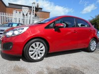 USED 2013 13 KIA RIO 1.4 2 ECODYNAMICS 5d 107 BHP ONE OWNER FROM NEW