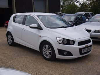 2012 CHEVROLET AVEO 1.2 LT 5 Door Hatchback In White 1 Owner From New £4495.00