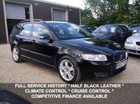 USED 2008 57 VOLVO V50 2.0D SE Estate In Black With Half Black Leather
