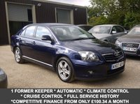 USED 2007 07 TOYOTA AVENSIS 1.8 VVT-I T3-X 5 Door Hatchback In Blue