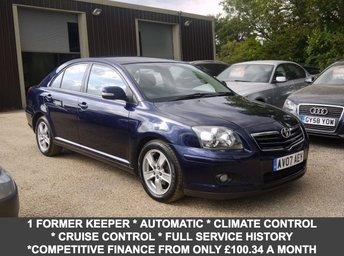 2007 TOYOTA AVENSIS 1.8 VVT-I T3-X 5 Door Hatchback In Blue £3495.00