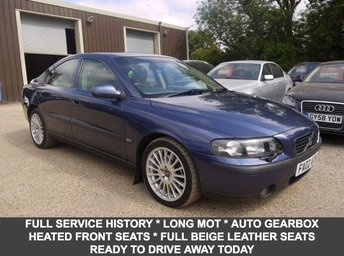 2002 VOLVO S60 2.0T SE Saloon In Blue With Full Beige Leather £1495.00