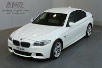 USED 2011 BMW 5 SERIES 2.0 520D M SPORT 4d AUTO 181 BHP LARGE SCREEN SAT NAV / DVD DIESEL CAR  TWO OWNER FULL S/H MUST SEE