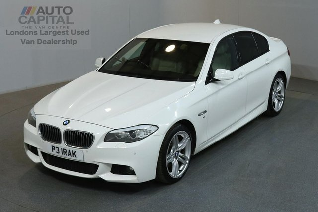 2011 BMW 5 SERIES 2.0 520D M SPORT 4d AUTO 181 BHP LARGE SCREEN SAT NAV / DVD DIESEL CAR  TWO OWNER FULL S/H MUST SEE