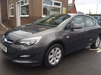 USED 2015 15 VAUXHALL ASTRA 1.4 DESIGN 5d 100 BHP CHEAP TO RUN , LOW CO2 EMISSIONS, LOW ROAD TAX, AND EXCELLENT FUEL ECONOMY!   EXCELLENT SPECIFICATION INCLUDING PARKING SENSORS, ALLOY WHEELS, AIR CONDITIONING , AND AUXILLIARY/USB CONNECTIONS