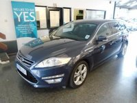 USED 2012 12 FORD MONDEO 1.6 TITANIUM TDCI 5d 114 BHP This Mondeo is finished in Metallic midnight sky with Black cloth seats. It is fitted with power steering, remote locking, electric windows x 4 and mirrors with power fold, climate control, cruise control,  rear parking sensors, Bluetooth, tinted glass, keyless entry, alloy wheels, SONY DAB Stereo with Aux port and more. It has been privately owned from new, has not been smoked in or carried pets and comes with a full Ford service history consisting of 5 stamps.