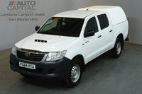 USED 2014 64 TOYOTA HI-LUX 2.5 ACTIVE 4X4 D-4D DCB 4d 142 BHP MWB AIR CON PICK UP AIR CONDITIONING / SPARE KEY