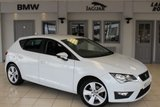 USED 2014 63 SEAT LEON 2.0 TDI FR 5d 150 BHP HALF LEATHER SPORT SEATS + FULL SERVICE HISTORY + BLUETOOTH + £20 ROAD TAX + 17 INCH ALLOYS + AIR CONDITIONING