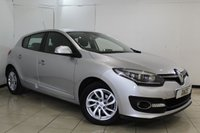 USED 2014 64 RENAULT MEGANE 1.5 DYNAMIQUE TOMTOM ENERGY DCI S/S 5DR 110 BHP SERVICE HISTORY + SAT NAVIGATION + CRUISE CONTROL + MULI FUNCTION WHEEL + CLIMATE CONTROL + 16 INCH ALLOY WHEELS