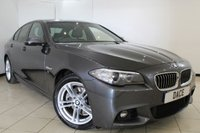 USED 2016 16 BMW 5 SERIES 2.0 520D M SPORT 4DR AUTOMATIC 188 BHP SAT NAV BMW SERVICE HISTORY + HEATED LEATHER SEATS + SAT NAVIGATION + PARKING SENSOR + BLUETOOTH + CRUISE CONTROL + MULTI FUNCTION WHEEL + CLIMATE CONTROL + 18 INCH ALLOY WHEELS