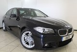 USED 2016 16 BMW 5 SERIES 2.0 520D M SPORT 4DR AUTOMATIC 188 BHP BMW SERVICE HISTORY + HEATED LEATHER SEATS + SAT NAVIGATION + BLUETOOTH + PARKING SENSOR + CRUISE CONTROL + MULTI FUNCTION WHEEL + CLIMATE CONTROL + 18 INCH ALLOY WHEELS