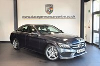 USED 2016 16 MERCEDES-BENZ C CLASS 1.6 C200 D AMG LINE 4DR 136 BHP with manufactures warranty  + FULL BLACK LEATHER INTERIOR + FULL MERC SERVICE HISTORY + SATELLITE NAVIGATION + BLUETOOTH + HEATED SPORT SEATS + REAR VIEW CAMERA + CRUISE CONTROL + PARK ASSIST + 18 INCH ALLOY WHEELS +