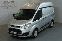 USED 2014 14 FORD TRANSIT CUSTOM 2.2 310 TREND 124 BHP L1 H2 SWB HIGH ROOF AIR CON ONE OWNER FROM NEW
