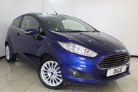 USED 2015 15 FORD FIESTA 1.0 TITANIUM 3DR 124 BHP SERVICE HISTORY + BLUETOOTH + CRUISE CONTROL + MULTI FUNCTION WHEEL + AIR CONDITIONING + 16 INCH ALLOY WHEELS