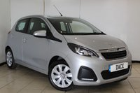 USED 2015 65 PEUGEOT 108 1.0 ACTIVE 3DR 68 BHP SERVICE HISTORY + BLUETOOTH + MULTI FUNCTION WHEEL + AIR CONDITIONING + RADIO/CD + ELECTRIC WINDOWS