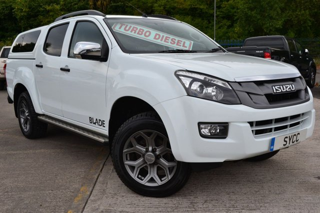 USED 2014 64 ISUZU D-MAX 2.5 TD BLADE DCB 5d 164 BHP TWIN TURBO ~ COLOUR CANOPY ~ NAV ~ LEATHER 1 OWNER ~ FULL ISUZU SERVICE RECORDS ~ COLOUR CODED CANOPY ~ SAT NAV ~ HEATED LEATHER