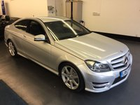 USED 2013 63 MERCEDES-BENZ C CLASS 1.6 C180 BLUEEFFICIENCY AMG SPORT 2d 154 BHP , FULL MAIN DEALER SERVICE HISTORY, GREAT SPEC INCLUDING SAT NAV