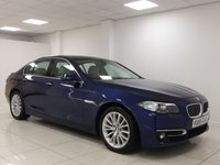 USED 2015 65 BMW 5 SERIES 2.0 520D LUXURY 4d AUTO 188 BHP FULL BMW HISTORY, £30 TAX, SAT NAV, LEATHER