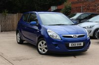 USED 2011 11 HYUNDAI I20 1.2 COMFORT 3d 77 BHP * BLUETOOTH * AIR CONDITIONING *