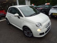 USED 2014 14 FIAT 500 1.2 S (SPORT) DUALOGIC 3d AUTOMATIC 69 BHP Low Mileage, One Owner from new, Serviced by ourselves, MOT until July 2019, Automatic, Great on fuel economy! Only £20 Road Tax!