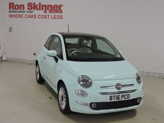 View our 2016 16 FIAT 500 1.2 LOUNGE 3d 69 BHP