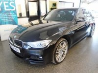 USED 2014 64 BMW 3 SERIES 3.0 330D XDRIVE M SPORT 4d AUTO 255 BHP One company owner from new, supplied with 12 months MOT and a service including fuel filter change, Only £140 to tax!  6 months Warranty Inclusive (extendable) . This 330 D M Sport 8 Speed AUTO is exceptional. It has an extensive service history with a printout, visits read from the key at 14963/38281/57371 miles. Finished in black sapphire metallic with heated Black Dakota leather upholstery. £7000 extras fitted!