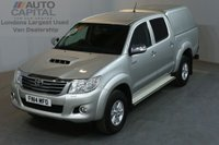 USED 2014 14 TOYOTA HI-LUX 2.5 ICON 4X4 D-4D DCB 4d 142 BHP AIR CON DIESEL MANUAL PICK UP ONE OWNER FULL S/H SPARE KEY