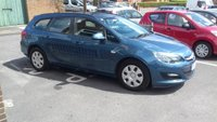 USED 2013 13 VAUXHALL ASTRA 1.7 ES CDTI ECOFLEX S/S 5d 108 BHP CHEAP TO RUN, LOW CO2 EMISSIONS, £20 ROAD TAX, AND EXCELLENT FUEL ECONOMY!..WITH AIR CONDITIONING, AUXILLIARY AND USB! ONLY 18470 MILES AND FULL SERVICE HISTORY!