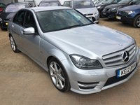 2012 MERCEDES-BENZ C CLASS 2.1 C250 CDI BLUEEFFICIENCY SPORT 4d AUTO 202 BHP £11495.00