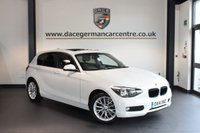 USED 2014 14 BMW 1 SERIES 2.0 116D SE 5DR AUTO 114 BHP + FULL SERVICE HISTORY + SATELLITE NAVIGATION + BLUETOOTH + SUNROOF + DAB RADIO + AUXILIARY PORT + 17 INCH ALLOY WHEELS +