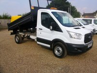 USED 2015 65 FORD TRANSIT 2.2 350 124HP TIPPER 2015 TRANSIT TIPPER WITH ONE OWNER FROM NEW